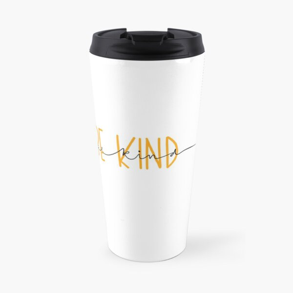 "Yellow ""be kind"" quote Travel Mug"
