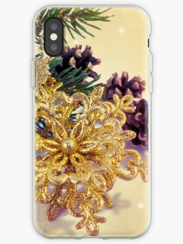 Elegant gold faux glitter Christmas decoration by Maria Fernandes