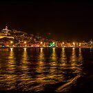 Ibiza town at night. by naranzaria