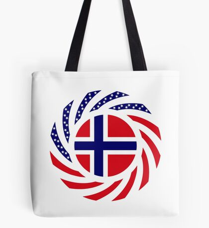 Norwegian American Multinational Patriot Flag Series 1.0 Tote Bag
