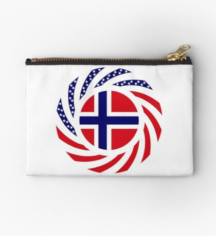 Norwegian American Multinational Patriot Flag Series 1.0 Zipper Pouch