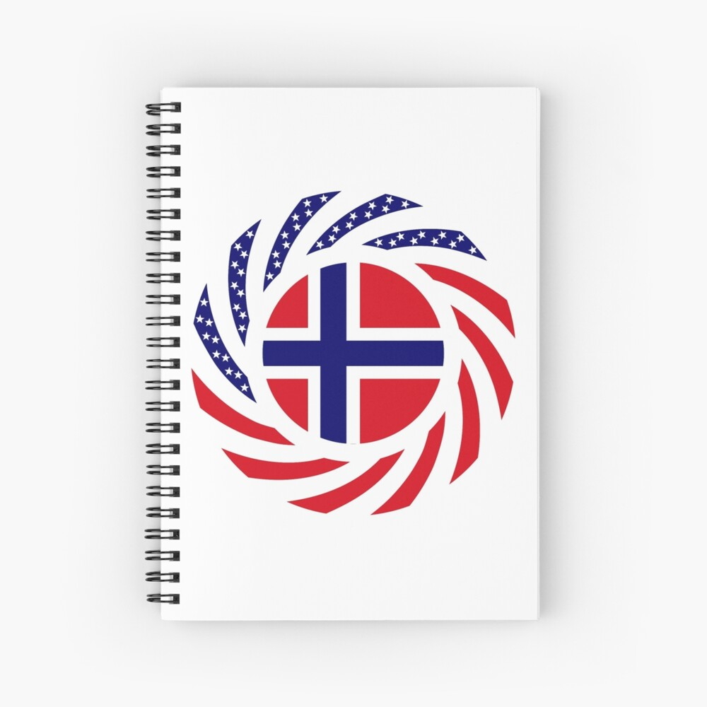 Norwegian American Multinational Patriot Flag Series 1.0 Spiral Notebook