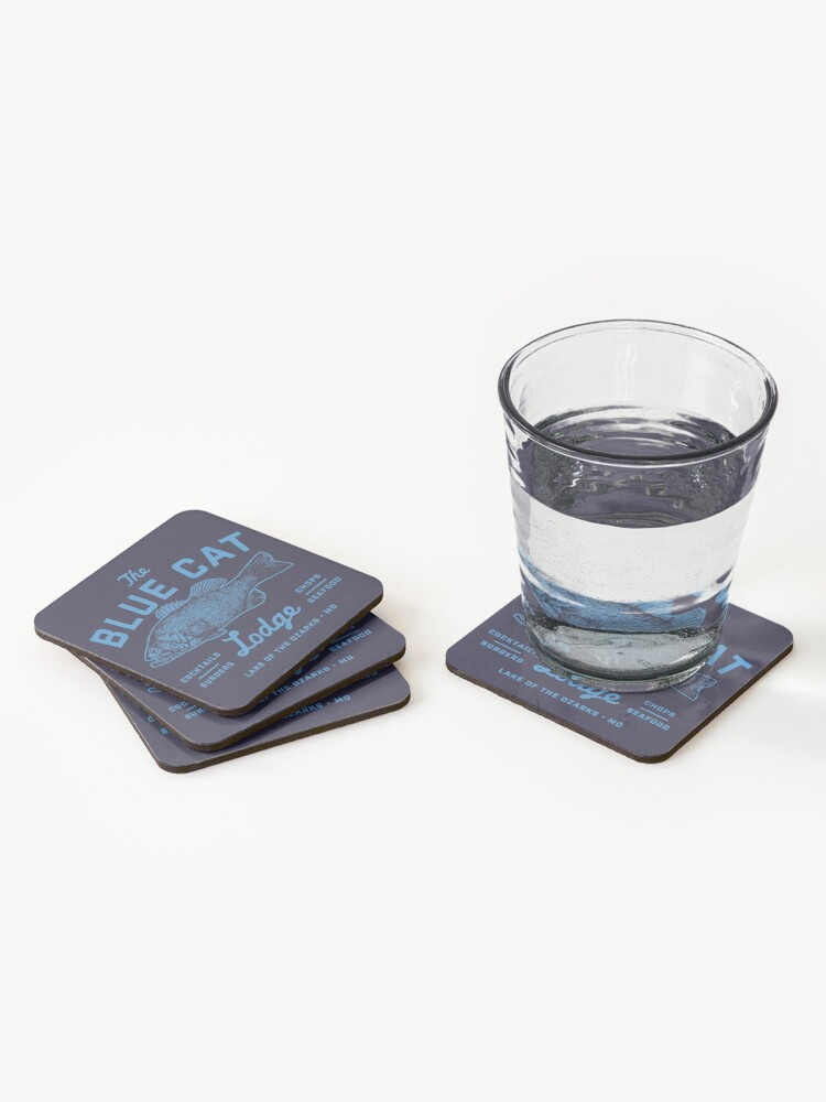 Alternate view of Blue Cat Lodge Coasters (Set of 4)