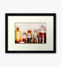 Pharmacy - The wizards pantry Framed Print