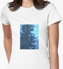 Snow scene Women's Fitted T-Shirt