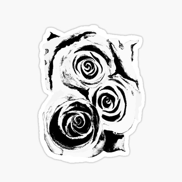 Abstract Rosey Roses Sticker