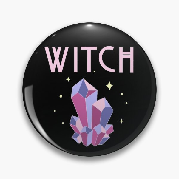 Pastel Goth Witch Pin
