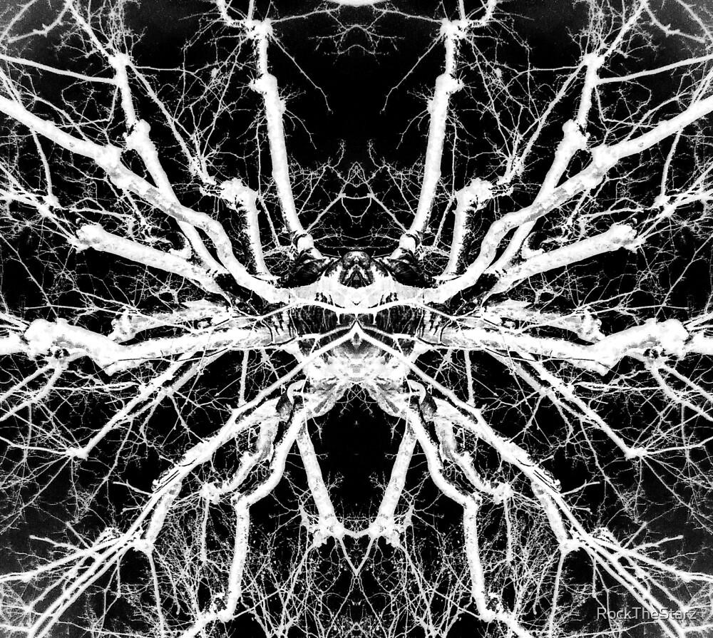 Surreal tree b&w by RockTheStarz