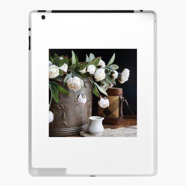 White Flowers iPad Skin