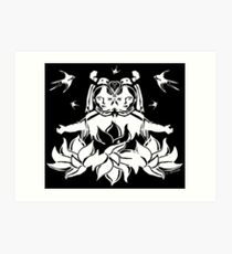 Steampunk Lotus Art Print