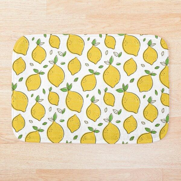 Cute Lemons Bath Mat