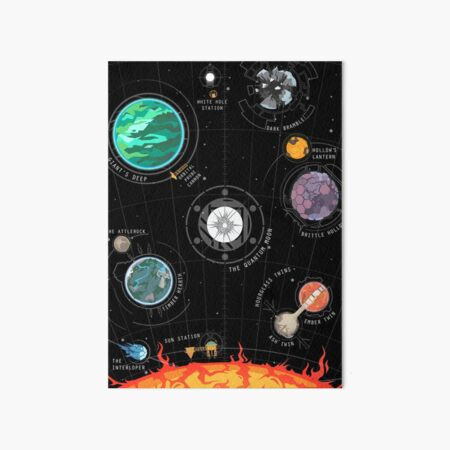 Outer Wilds System Art Board Print