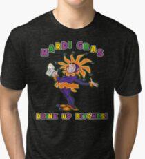 Mardi Gras Drink Up Bitches Tri-blend T-Shirt