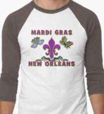 Mardi Gras New Orleans Men's Baseball ¾ T-Shirt
