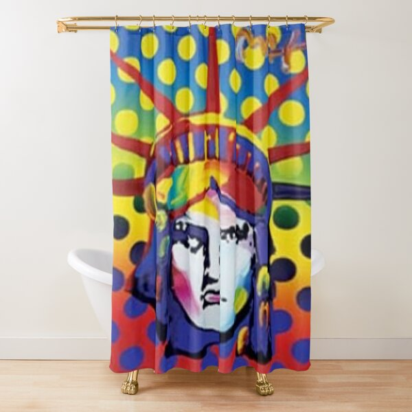 Peter Max Lady Liberty Shower Curtain