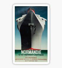 Vintage poster - Normandie Sticker