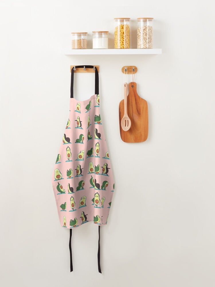 Alternate view of Avocado Yoga in Pink Apron