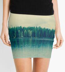 sleepy morning lake Mini Skirt
