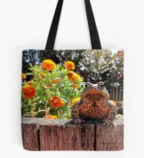 Adorable Toad with little orange flowers 2 Tote Bag