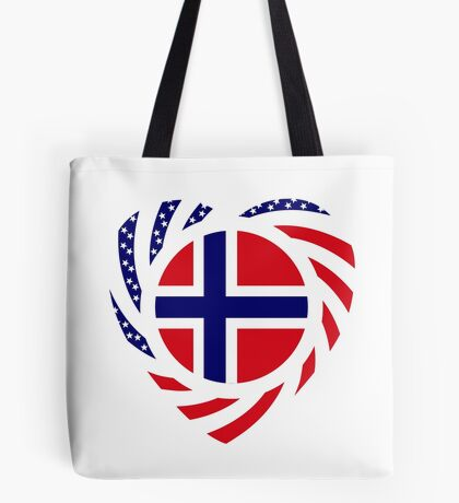 Norwegian American Multinational Patriot Flag Series 2.0 Tote Bag