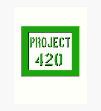 PROJECT 420 green 0001 Art Print