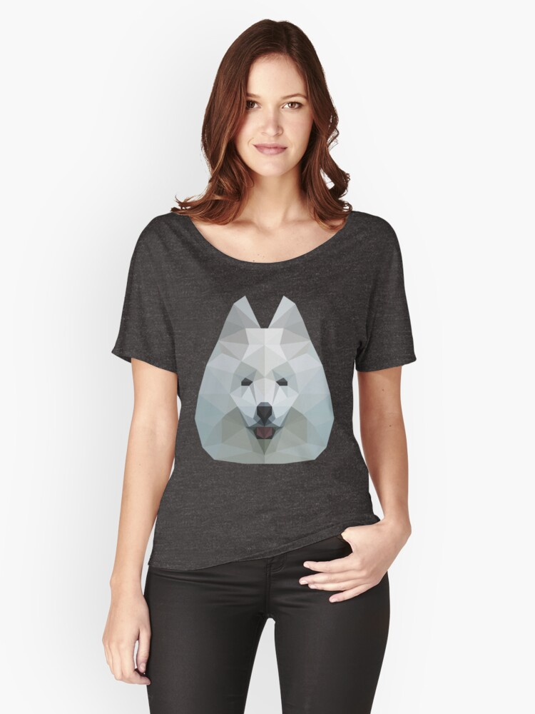 samoyed  Women's Relaxed Fit T-Shirt Front