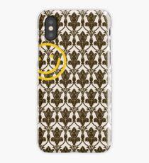 BBC Sherlock Holmes Damask Wallpaper Pattern iPhone Case/Skin
