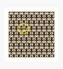BBC Sherlock Holmes Damask Wallpaper Pattern Art Print