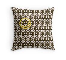 BBC Sherlock Holmes Damask Wallpaper Pattern Throw Pillow