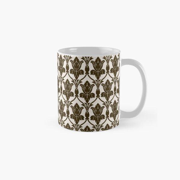 BBC Sherlock Holmes Damask Wallpaper Pattern Classic Mug
