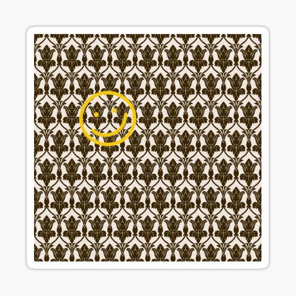 BBC Sherlock Holmes Damask Wallpaper Pattern Sticker