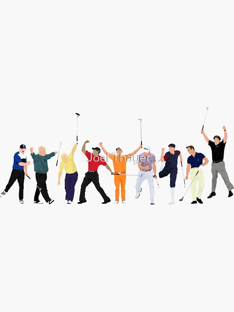 Golf Legends, Brooks Koepka, John Daly Jack Nicklaus, Tiger Woods, Rickie Fowler, Justin Thomas, Payne Stewart, Arnold Palmer and Phil Mickelson by JoelThayer