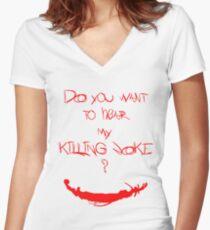 Killing joke 1 Women's Fitted V-Neck T-Shirt