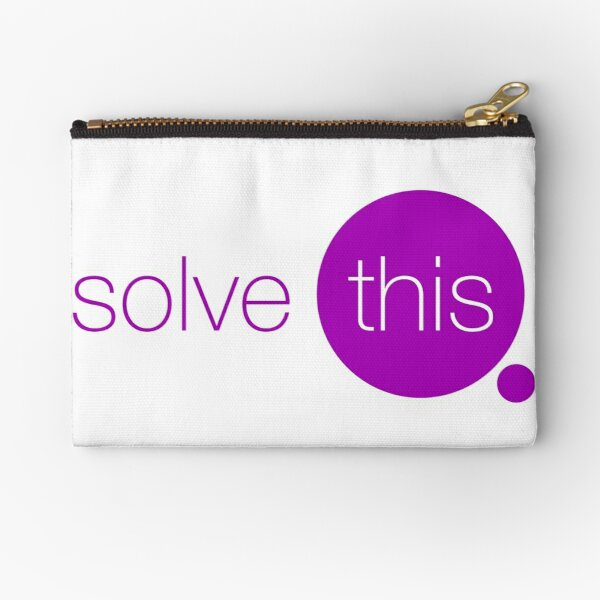 Solve This Zipper Pouch