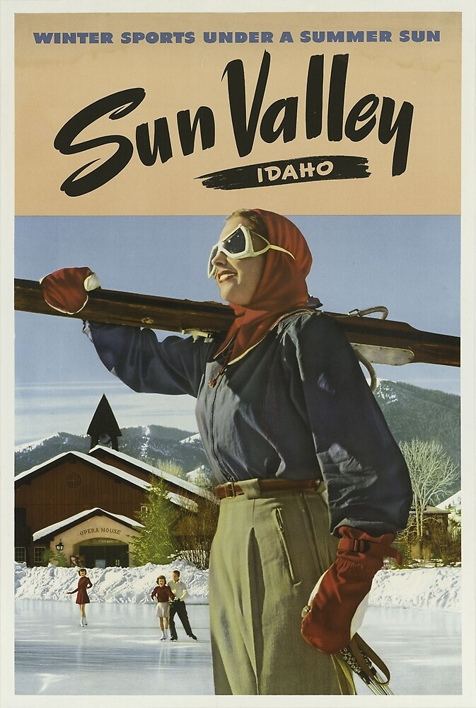 Vintage poster - Sun Valley by mosfunky