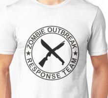 ZOMBIE OUTBREAk RESPONSE TEAM gun & Machete Unisex T-Shirt