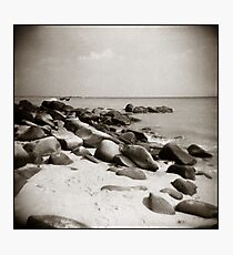 { beach boulders } Photographic Print