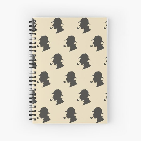 Patrón de silueta de Sherlock Holmes Cuaderno de espiral