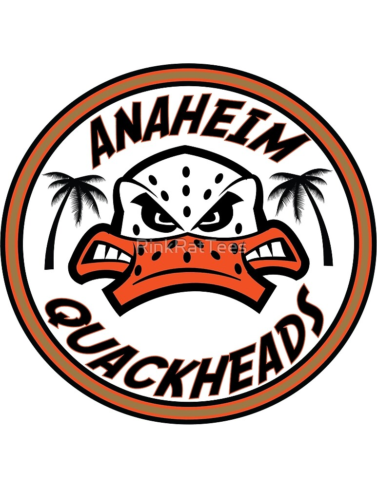 Anaheim Quackheads Side Patch Logo Tee  by RinkRatTees