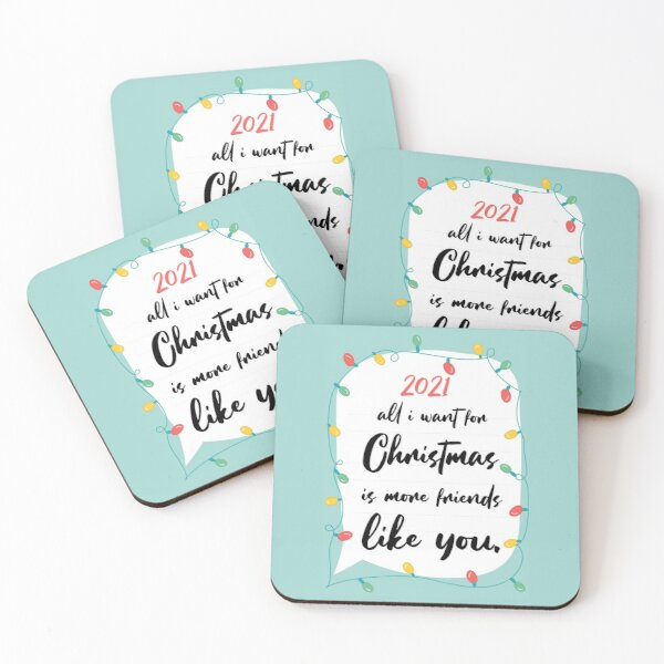 Coaster Christmas 2021 Happy New Year 2021 Coasters Merry Christmas 2021 Christmas Decorations And Accessories Christmas Day Gift Funny Christmas Shirt For Women Men Wishes Christmas In Quarantine 2021 Coasters Set Of 4 By Nassim066 Redbubble