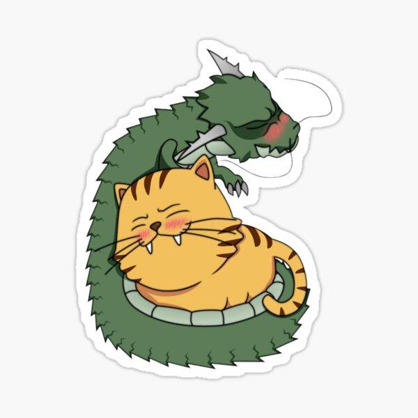 Taradora Dragón y Tigre Pegatina