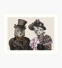 The Owl and the Pussycat Art Print
