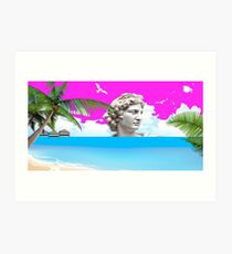 Vaporwave Beach Art Print