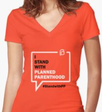 I Stand With Planned Parenthood Women's Fitted V-Neck T-Shirt