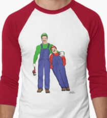 Super Mario Twins Men's Baseball ¾ T-Shirt