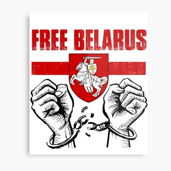 "FREE BELARUS Pogonya - Belarus Flag White Red White Symbol "" Metal Print by  NUMAcreations | Redbubble"