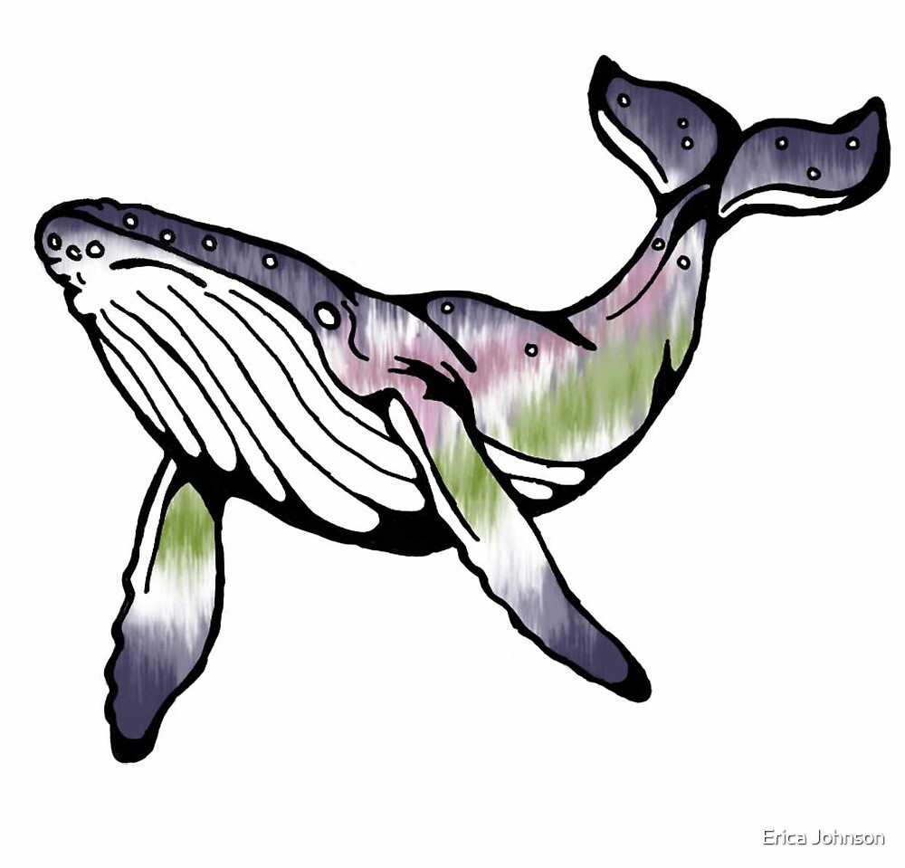 Northern Lights Whale by inkdust-