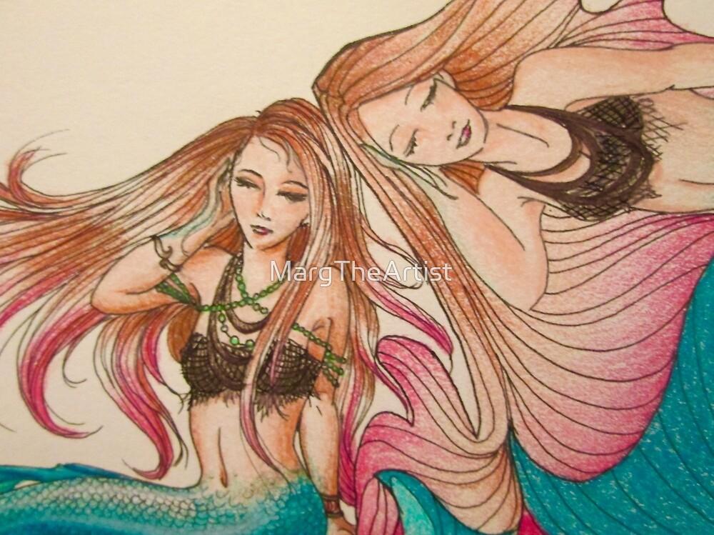 Mermaid Tessellation II by MargTheArtist