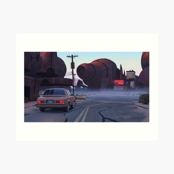 Mojave Metal II Art Print