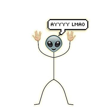 ayylmao alien  by romanmtz